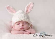 Custom Made SET for Bunny Hat with White and Pink Bunny by 1kybele, $48.00