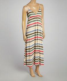 Love this Pink Stripe Surplice Maxi Dress by Aryeh on #zulily! #zulilyfinds