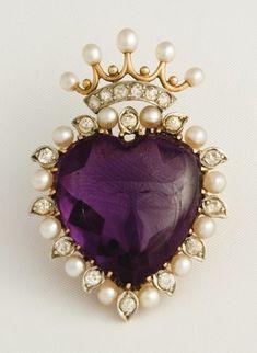 amethyst, diamonds & pearls