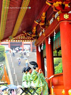 They transmitted to God the celebrations in Ancient court music. Yukinoshita, Kamakura, Prefectura de Kanagawa, Japó