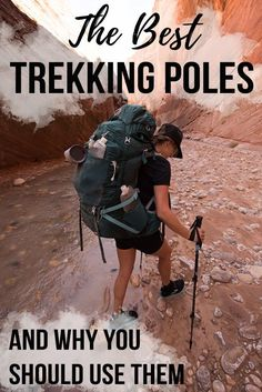 The Best Trekking Poles of 2018 & Why You Should Use Them Adjustability, grip type & pole material. Learn the benefits of hiking with trekking poles & how to choose the best trekking poles for your next adventure. Thru Hiking, Hiking Tips, Camping And Hiking, Hiking Gear, Hiking Backpack, Hiking Boots, Winter Camping, Hiking The Appalachian Trail, Best Hiking Poles