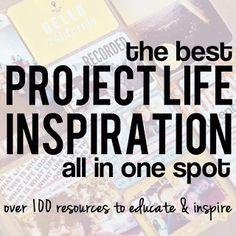 Massive Project Life Resource. 100+ links.