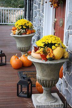 outdoor fall arrangement