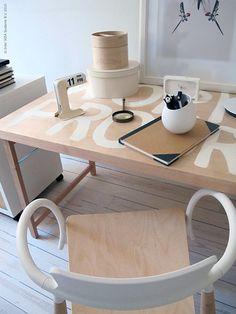 Work in Progress - Ikea Hack Ikea Table, Dining Room Table Chairs, Living Room Chairs, Ikea Chairs, Desk Chairs, Diy Home Office Furniture, Furniture Making, Cool Furniture, Ikea Office