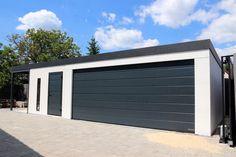 Montovaná stavba na mieru GARDEON Garage Doors, Outdoor Decor, Home Decor, Decoration Home, Room Decor, Home Interior Design, Carriage Doors, Home Decoration, Interior Design