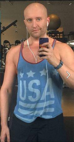 Allen Brandt - selfie in blue