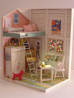 "Hand-made miniature Scene 1:12 scale ""Aiming high """
