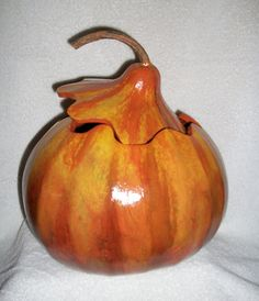 Gourd Bowl Hand Painted Gourd