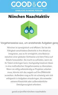 Good&Co-Profil für Niinchen Naachtaktiiv Logos, Logo