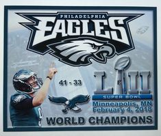 Philadelphia Eagles Champions Super Bowl 52 4 x3 Magnet football 2018 minnesota