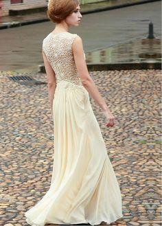 robe demoiselle d honneur · Beige Wedding Dress 9265a3a78228