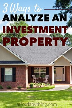 Learn how to apply the 3 formulas I use to analyze real estate investments to see whether or not a property is a good deal - and learn what calculations to avoid.