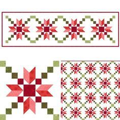 {Another} Stepping Stones Christmas table runner Christmas Patchwork, Christmas Quilt Patterns, Barn Quilt Patterns, Free Quilt Block Patterns, Christmas Quilting Projects, Patch Quilt, Quilt Blocks, Small Quilts, Mini Quilts