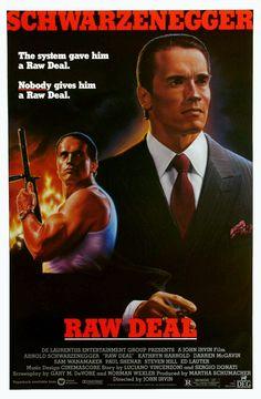 raw deal, 1986, movie poster, arnold schwarzenegger, ejecutor