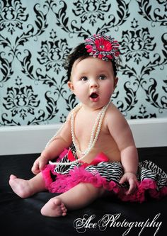 love the pearls with the bow and tutu