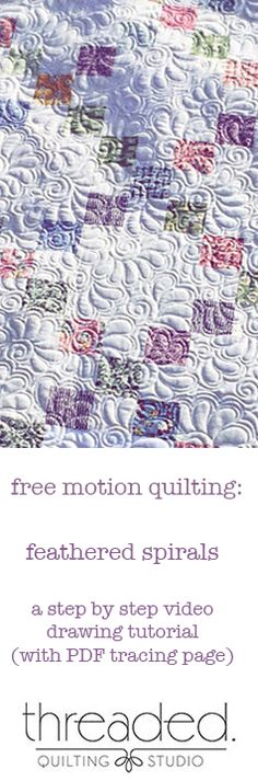This quilting design looks great on a variety of quilt tops from traditional to modern. I typically use this as an allover design, but have also been known to use it in a wide-ish border.