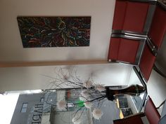 Salon art work and arrangement in the reception