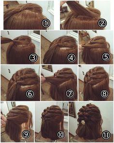 Semirecogido cabello corto