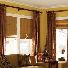 Roman Shades Ashton Stripe Camel Plain Fold 34 to 34.5 inches Wide (34 1/2W x 44H Camel), Brown (Polyester)