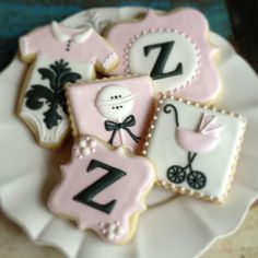Love these girl baby shower cookies