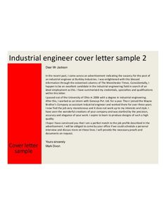 Industrial Engineering Cover Letter Samples And Templates Previous Page Mechanical