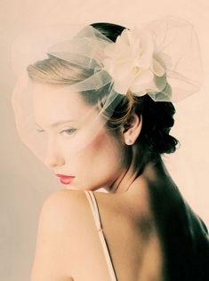 Bridal Short Hairstyles - Romantic Short Wedding Haircut with Veil
