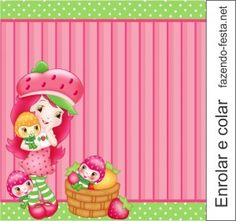 Para hacer tarjetas o etiquetas para Candy Bar de Strawberry Shortcake.