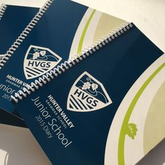 Hunter Valley Grammar School - 2015 Diary. Design and Print Production. #HVGS