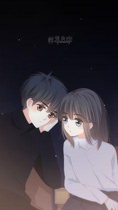 Anime Couple Love, Anime Love Story, Cute Couple Art, Anime Couples Drawings, Anime Couples Manga, Cute Anime Couples, Anime Cupples, Anime Guys, Cute Couple Wallpaper