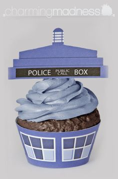 Doctor Who - TARDIS Cupcake Wrappers & Toppers (Instant Download) by CharmingMadness
