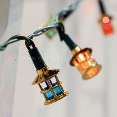 5.8m Traditional Lantern Fairy Lights, 40 Multi Coloured LEDs