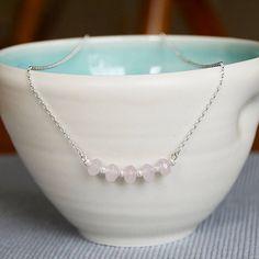 rose quartz necklace by adela rome | notonthehighstreet.com