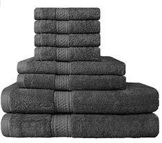 Premium 8 Piece Towel Set Grey 2 Bath Towels 2 Hand Towels 4 Washcloths Cotton Machine Washable Hotel Quality Super Soft and Highly Absorbent by Utopia Towels >>> Continue to the product at the image link. Best Bath Towels, Bath Towel Sets, Bathroom Towels, Bathroom Bath, Soft Towels, Master Bathroom, Green Hand Towels, Premium Hotel, Shower Towel