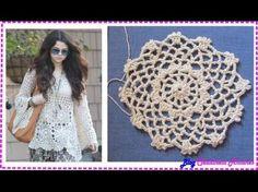 Blusa crochê Inpirado Selena Gomes.