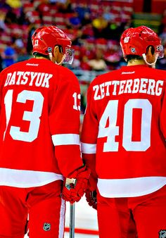 Detroit Red Wings Pavel Datsyuk and Henrik Zetterberg (wintermonthnovelty.tumblr.com)