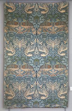 William Morris Peacock And Dragon Textile Design by William Morris - - William Morris, Framed Art Prints, Poster Prints, Canvas Prints, Design Art Nouveau, Of Wallpaper, Wallpaper Designs, Designer Wallpaper, Paisley Wallpaper