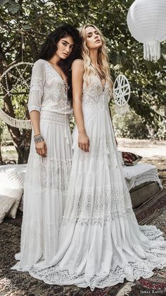 inbal raviv 2017 bridal bohemian a line wedding gowns dresses