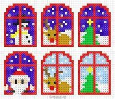 Melty Bead Patterns, Pearler Bead Patterns, Perler Patterns, Beading Patterns, Hama Beads Design, Diy Perler Beads, Perler Bead Art, Christmas Perler Beads, Art Perle