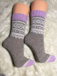 Socken mit Mariusgenser Muster , Wolle von Regia