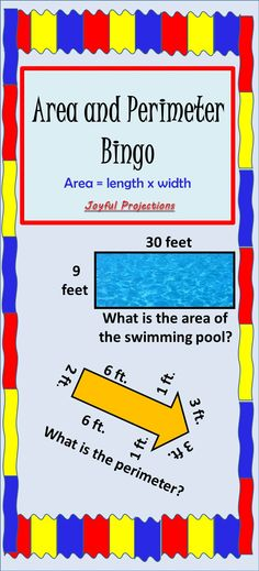 Your students will love this classroom Bingo game for reviewing area and perimeter!