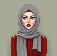 Hijab DrawingSweet creature Hijab Drawing Source : Sweet creature by Hijabi Girl, Girl Hijab, Muslim Girls, Muslim Women, Sarra Art, Hijab Drawing, Drawing Art, Girly M, Hijab Cartoon