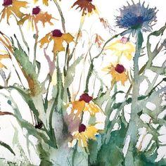 Watercolor Flowers, Watercolor Art, Kate Osborne, Art For Kids, Art Children, Contemporary Artists, Artsy Fartsy, Greenery, Painting Tutorials