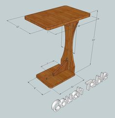 Here is my version of a couch table.  I included basic measurements if you would like to make one. http://www.fool4peppers.com See my project blog for other ideas.