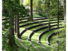 RIVER CORRIDOR DESIGN CAN BE ECOLOGICAL, BEAUTIFUL, AND FUNCTIONAL! : Swarthmore College: Scott Outdoor Amphitheater