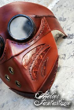 Steampunk goggles leather mask Arakis by AtelierFantastique on DeviantArt