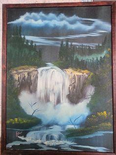 Night Falls - landscape arts - Paintings & Prints Landscapes & Nature Waterfalls - ArtPal Landscape Art, Waterfalls, Landscapes, Paintings, Night, Nature, Prints, Outdoor, Paisajes