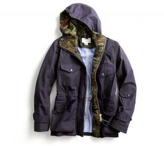Nanamica Camo Cruiser - from JCrew... like the camo lining