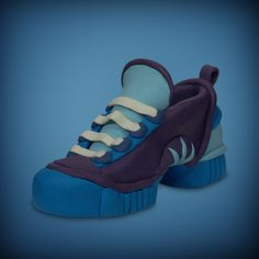 Blue sneaker (made with modeling clay)