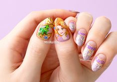 Rapunzel Nail Art Disney Toes, Disney Nails, Tangled Rapunzel, Disney Tangled, Frozen Art, Beautiful Nail Art, Beauty, Google, Image