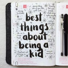 SnapWidget | Day 11 of #listersgottalist: best things about being a kid ❤️ #hobonichi #lists #listmaking #hobonichi #roterfaden #planner #filofax #diary #agenda #notebook #midori #midoritravelersnotebook #travelersnotebook #mtn #journal #journaling #journalingprompts #artjournal #artjournaling #doodles #doodling #typography #type #stationery #scrapbooking #handwriting #handlettering #lettering